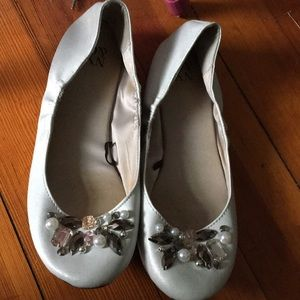 Sparkly jeweled flats
